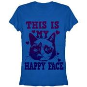 Grumpy Cat Juniors' Happy Face T-Shirt