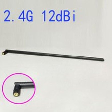 WIFI Antenna 2.4 GHz 12dBi SMA Male Wireless WLAN Black Floding Omni Router Card Antenna 45CM Length Ships Quickly From USA