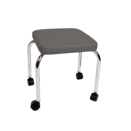 "Mobile Stool, No Back, Square Top, 18"" H - Slate Color Upholstery - 16-1600-SL"