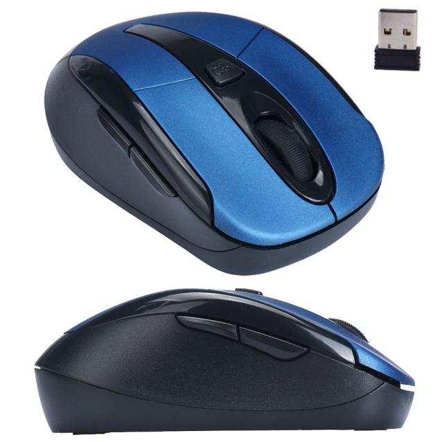 New Fashion Portable 2.4G Wireless Optical Mouse Mice For Computer PC Laptop Black