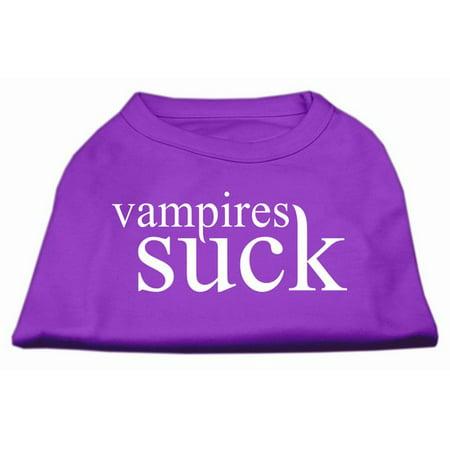 Vampires Suck Screen Print Shirt Purple XS (8)