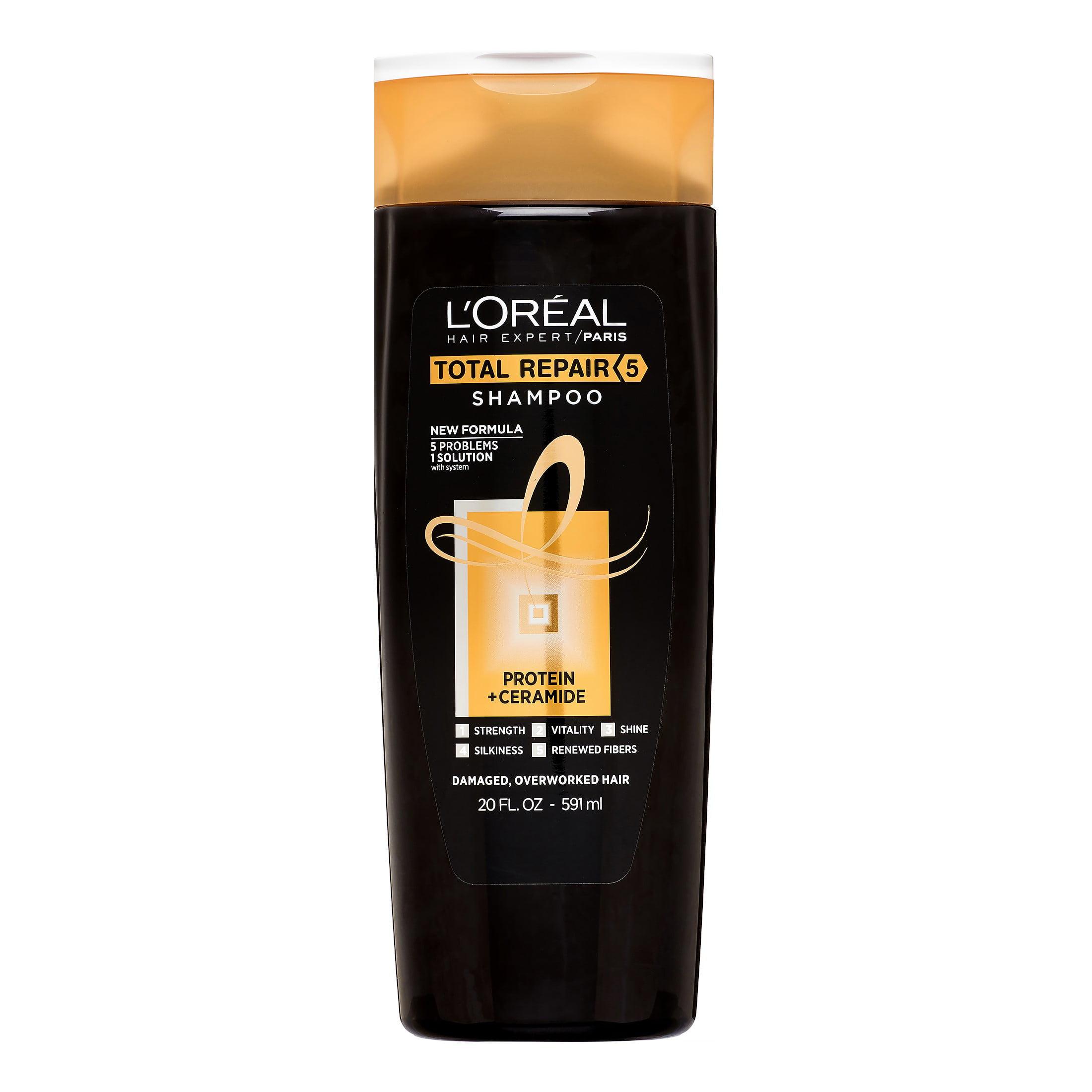 L'Oreal Paris Hair Expert Total Repair 5 Restoring Shampoo, 20 Fl Oz