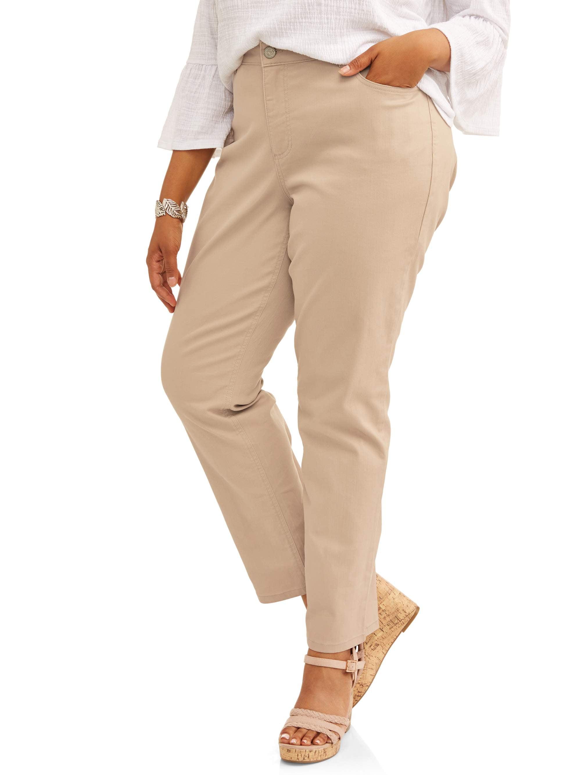 NEW Terra /& Sky Plus Size Repreve Denim 5-Pocket Classic Straight Leg Jean Women