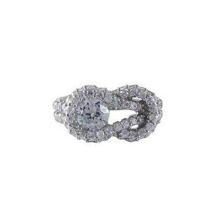 Dlux Jewels Zirconia Sterling Silver Cubic Zirconia Ring, Size 6 - image 1 de 1