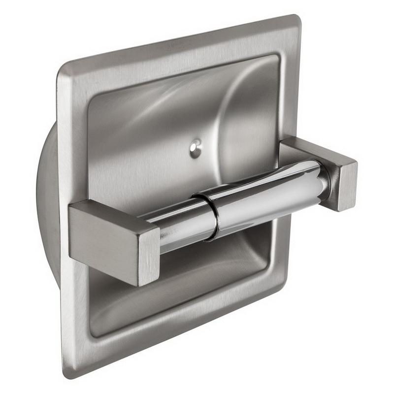 (Price/each)Harney Hardware 13059 Recessed Toilet Paper Dispenser, Single Roll