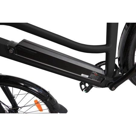 "T4B Pulse Low Step City Bike - Bafang 350W Brushless Electric Motor, 8 Speed, Samsung Li-Ion Battery 36V13Ah, 26"" Tires - Black - image 10 de 12"