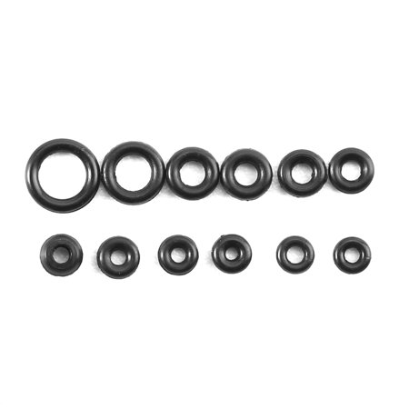 Dilwe 1.4-2.8mm 12 Sizes Rubber Rings Watches Gaskets Tiny Crown-O-Ring Box Set for Waterproof Seal, Waterproof Seal O-Ring, Seal O-Ring