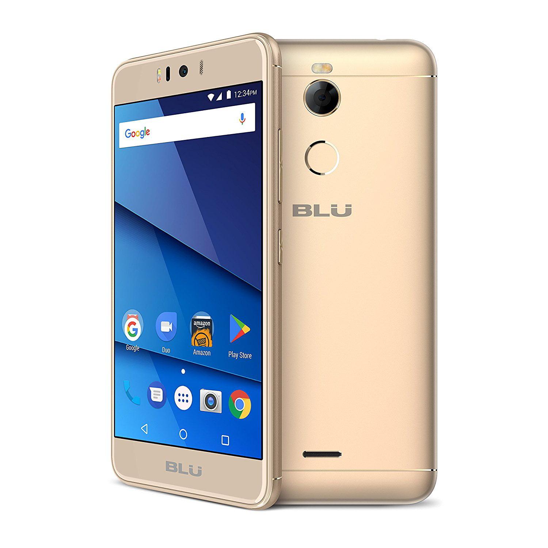 "BLU R2 5.2"" Smartphone 8GB GSM Unlocked 8MP Dual SIM Android R010p Gold"