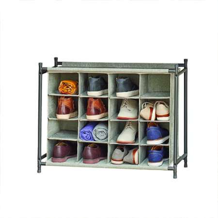 Better Homes Gardens Charleston Collection 4 Tier 16 Cubby Pair Shoe Organizer