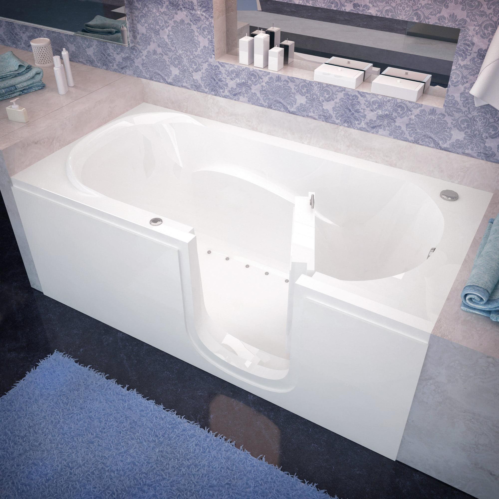 "Avano AV3060SIRA Step-In Tubs 59-5/8"" Acrylic Air Bathtub for Alcove Installations with Right Drain"