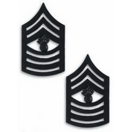 USMC Black Metal (Solid Brass) MGYSGT Master Gunnery Sergeant Chevron Rank (Axxis Metal Master Brake Pad)