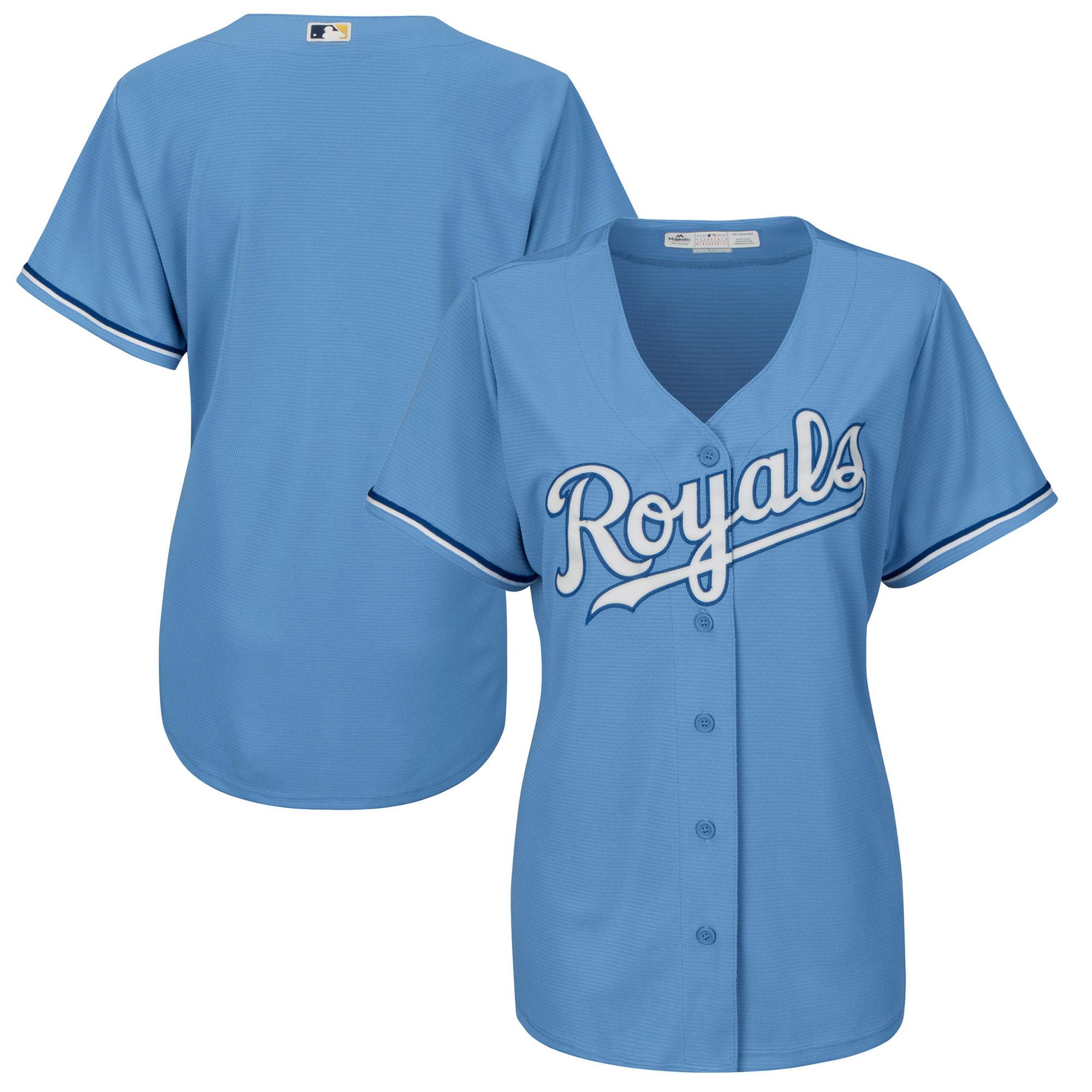 Kansas City Royals Majestic Women's Cool Base Jersey Light Blue by MAJESTIC LSG