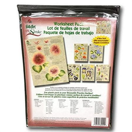 Plaid Folk Art One Stroke Worksheet Pack, Tulips ()