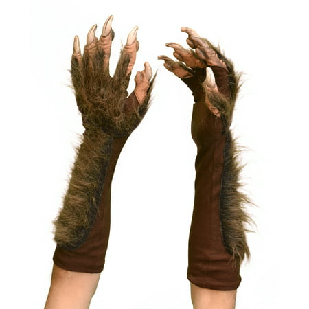 Zagone Studios Halloween Dress Up Costume Adult Wolf Gloves (Brown) (one size)](Halloween Dress Up Ideas From Home)