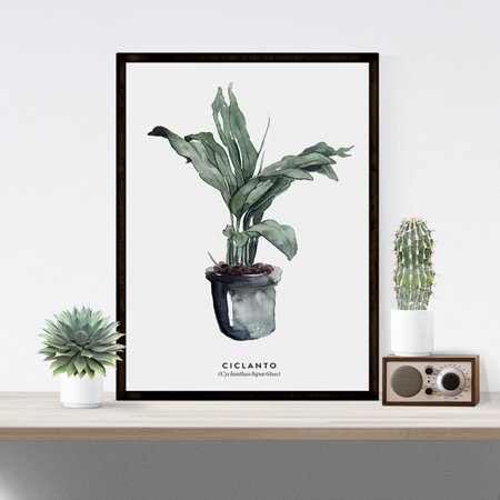 Elegant Green Plant Printing Stylish Picture Home Hotel Decoration Gift (without Frame) A-1 30x40cm Elegance Green Plate