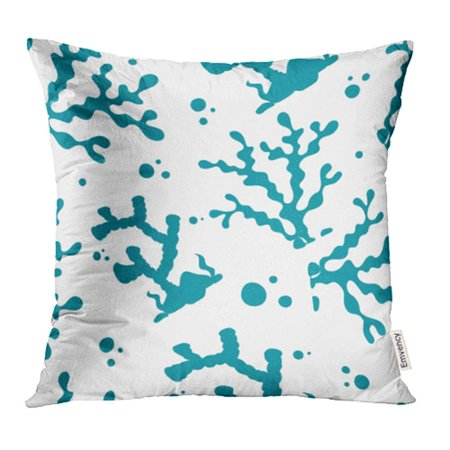 ARHOME Abstract Marine Life Coral with Sea of Air Aquarium Aquatic Beauty Bottom Bubble Pillowcase Cushion Cases 16x16 inch