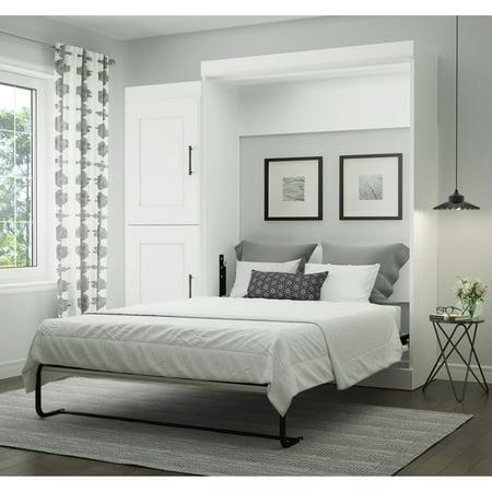 Bestar Edge Full Wall Bed with 2-Door Storage Unit in