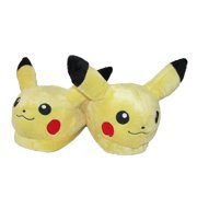 BioWorld Size Large Pokemon Pikachu Plush Slide Slippers, Pikachu Yellow