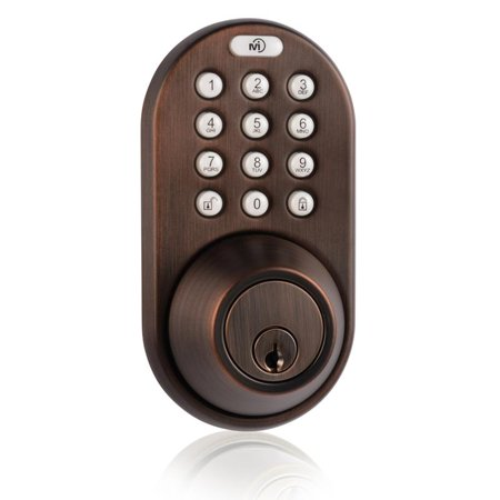 Keyless Entry Deadbolt Door Lock with Electronic Digital Keypad Oil Rubbed -