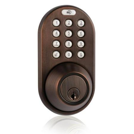 Keyless Entry Deadbolt Door Lock with Electronic Digital Keypad Oil Rubbed Bronze