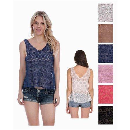 Eros Att434 Ladies Crochet Tank Tops44 Fractal Patterns