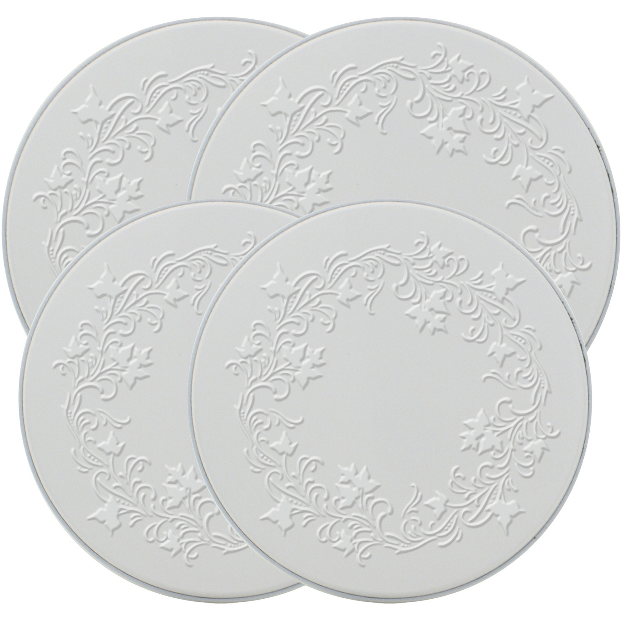 "Range Kleen 4-Piece Burner Kover Set, Round, Decorative ""Embossed Ivy"""
