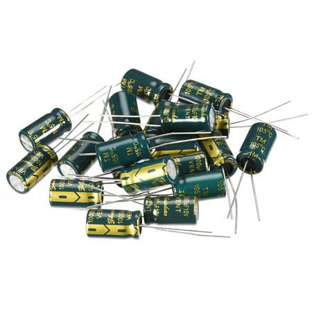 Aluminum Radial Electrolytic Capacitor Low ESR 1000uF 10V 8x14mm 20pcs