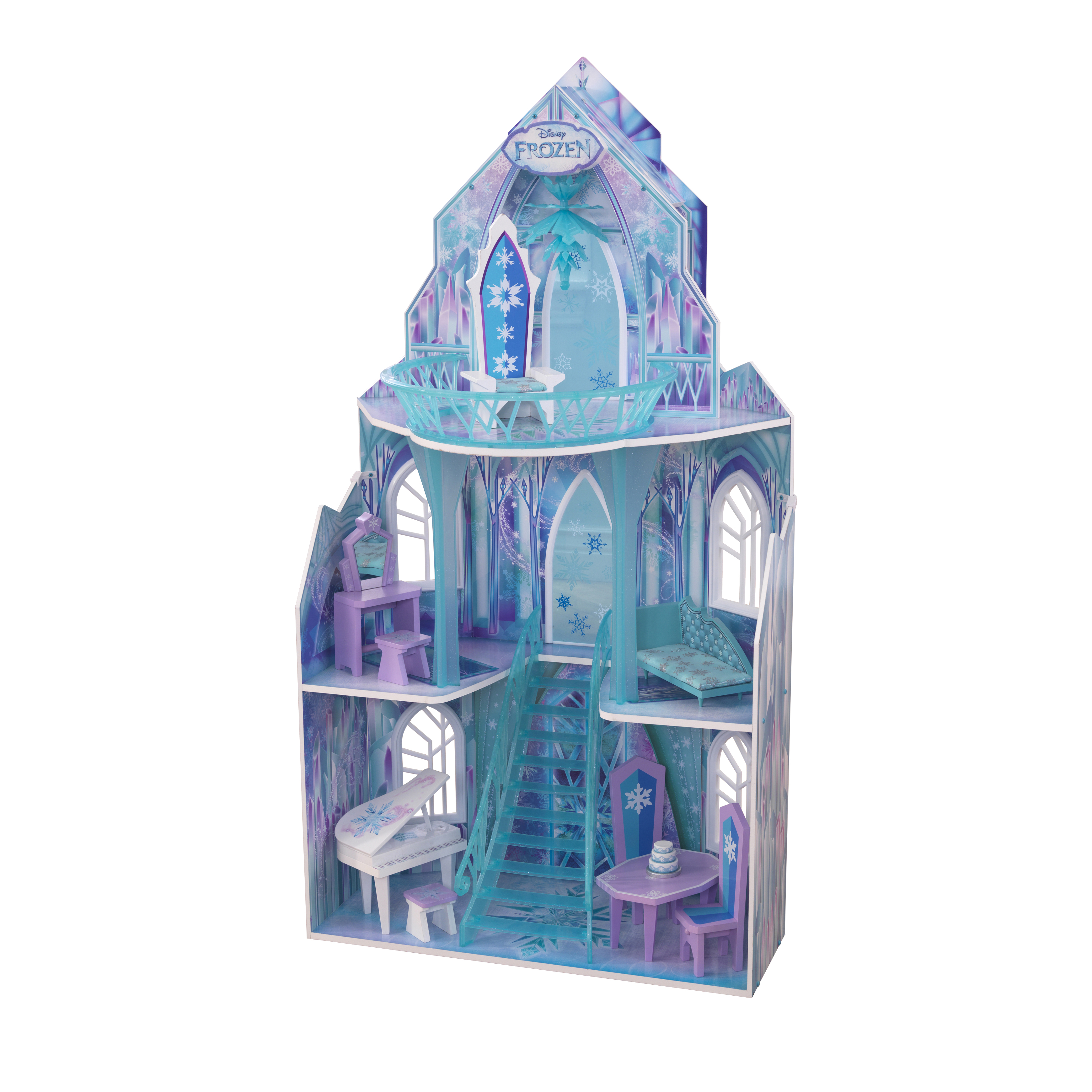 kidkraft disney174 frozen ice castle dollhouse with 11