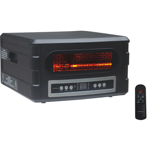Advanced Tech Infrared 1,500 Watt Electric Infrared Compact Heater with Remote Control
