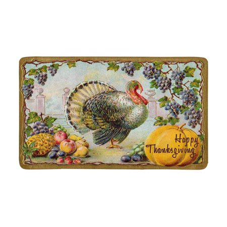 Thanksgiving Classroom Door (MKHERT Thanksgiving Day Decor Turkey Bountiful Harvest Doormat Rug Home Decor Floor Mat Bath Mat 30x18)