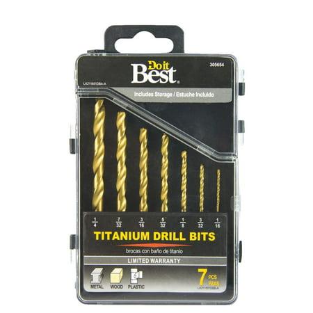 Do it Best 7-Piece Titanium Drill Bit Set