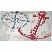 IDG Anchors Away White Rug