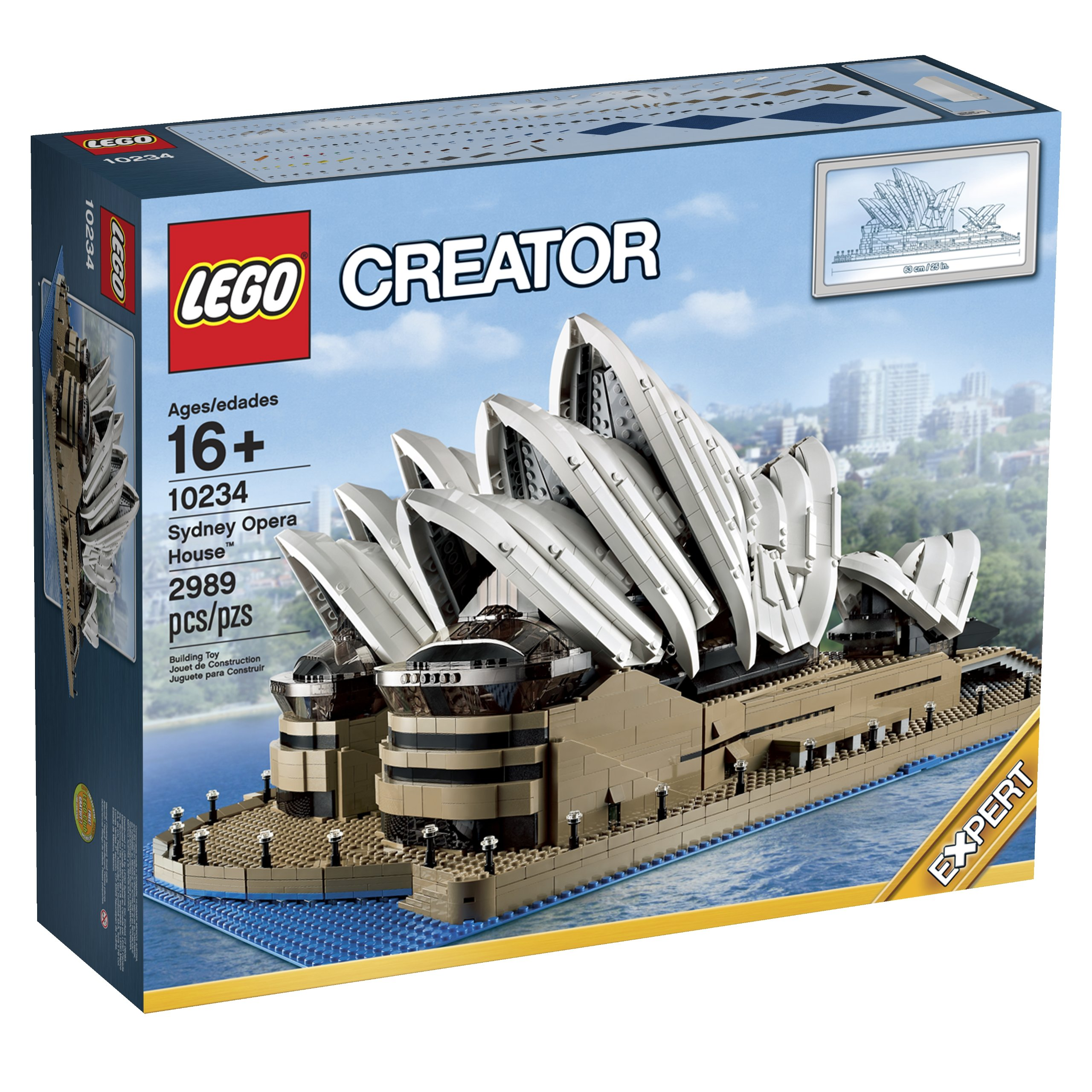 LEGO 10234 Sydney Opera House CUSTOM ACRYLIC DISPLAY STAND
