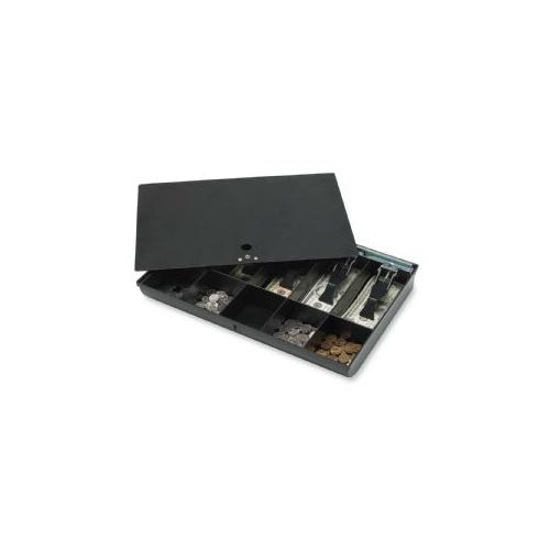 SPARCO PRODUCTS Money Tray, w/ Locking Cover, 16x11x2-1/4, Black
