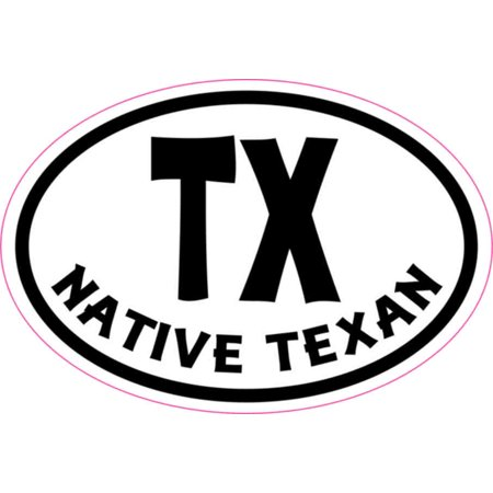3in x 2in oval tx native texan sticker vinyl cup decal bumper stickers
