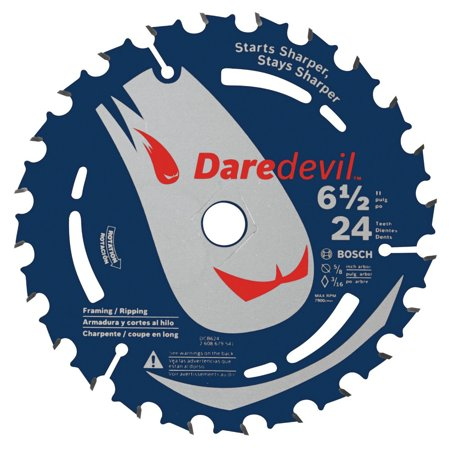 Bosch Saw Blades - Bosch DCB624 Daredevil 6-1/2 in. 24 Tooth Circular Saw Blade