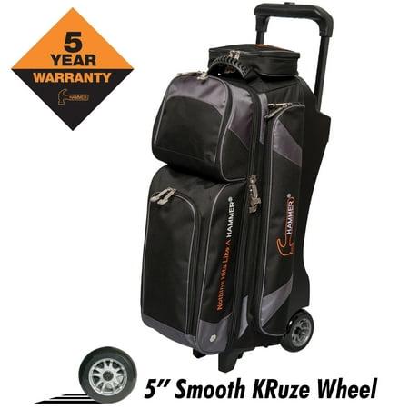 Hammer Premium Triple Ball Roller Bowing Bag Black/Carbon ()
