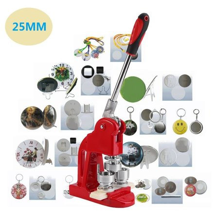 Button Badge Maker Machine with 500 Button Parts 1Inch Circle Cutter Button  Maker(Machine Only)