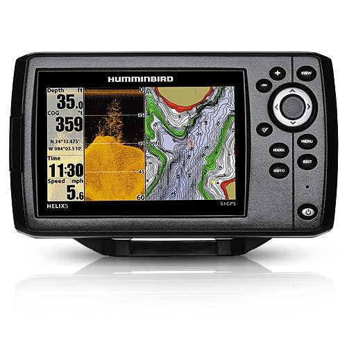 Humminbird Helix 5 CHIRP SI GPS G2 410230-1 Fish Finder System with Side Imaging & Down Imaging Sonar Technology