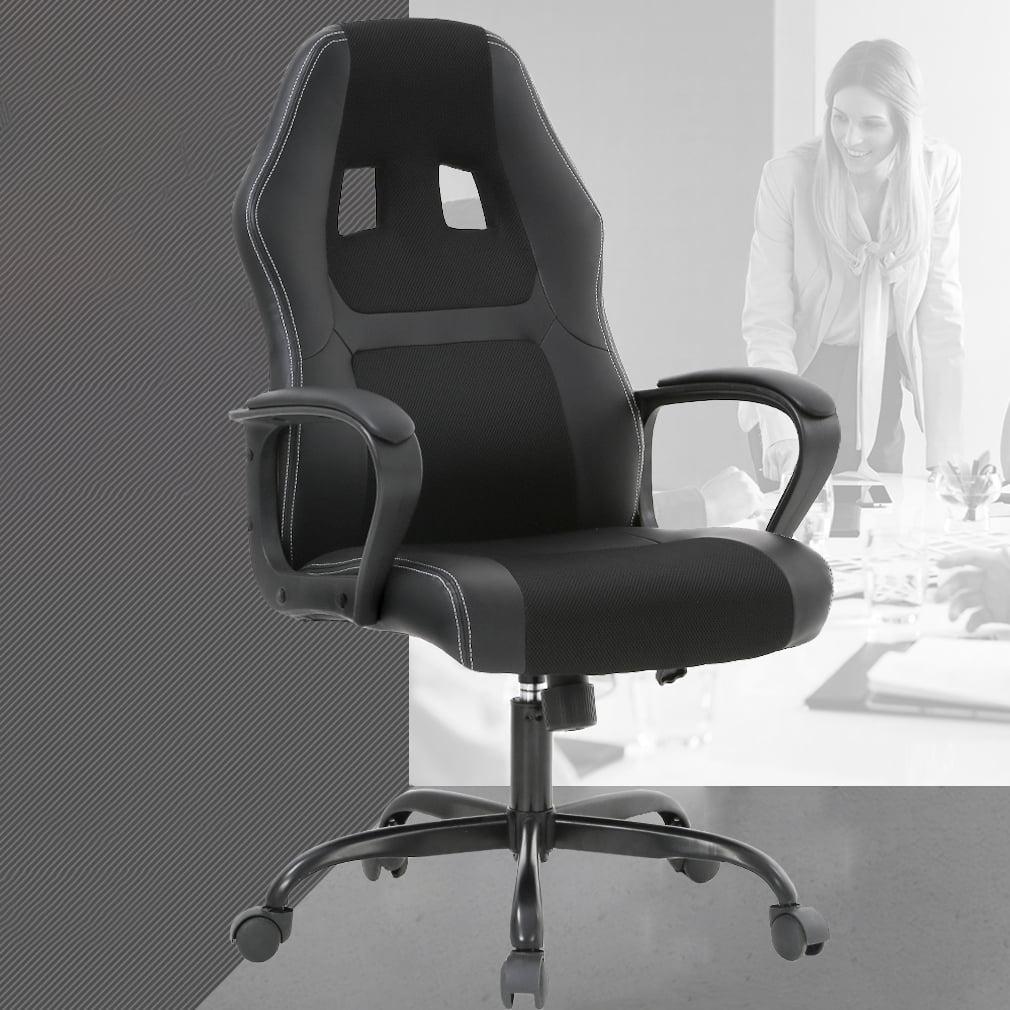 Pleasant Racing Style Ergonomic Gaming Chair With Lumbar Support Black Inzonedesignstudio Interior Chair Design Inzonedesignstudiocom