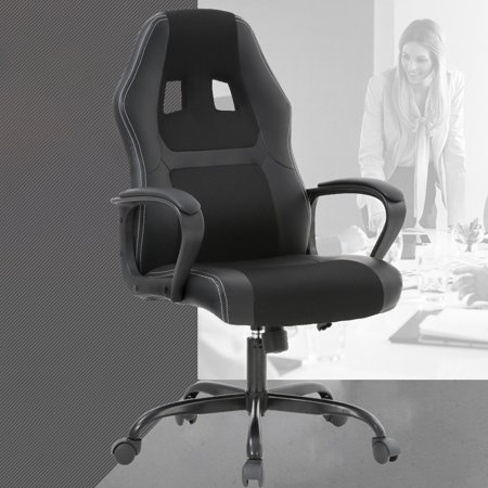 Gaming Chair Office Desk Gaming Chair Racing Ergonomic Computer Chair With Lumbar Support Mesh Seat Metal Swivel Rolling Chair Executive PU Leather Chair For Women, - Seat Ergonomic Chair