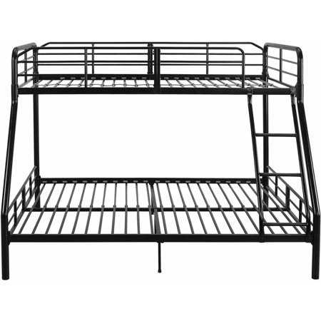 Mainstays Twin Over Full Metal Sturdy Bunk Bed Black
