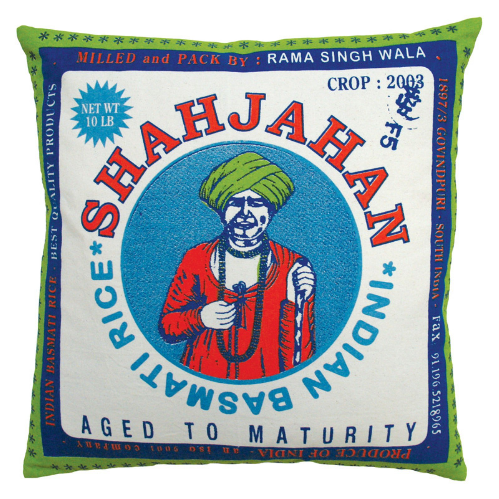 Koko Company Rice Shajahan Decorative Pillow