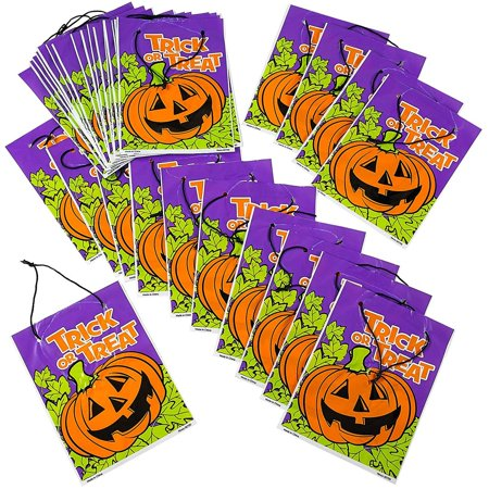 Snack Ideas For Halloween Party (Halloween Drawstring Goody Bag - Pack of 36 Assorted Spooky Plastic Craft Supplies for Trick and Treat, Birthdays, Party Favors, Candy)