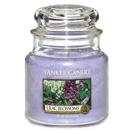 Yankee Candle Lilac Blossoms Medium Jar Candle, Floral (Lilac Blossoms)
