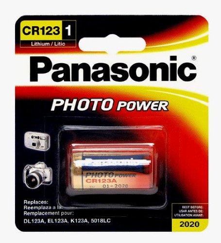 1 Box of 6 Panasonic 3V Lithium Camera Batteries Size CR123A