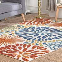 nuLOOM Indoor/Outdoor Transitional Floret Area Rug