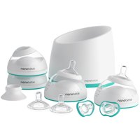 Nanobebe Baby Bottle Starter Set with Warmer & Pacifiers, Teal