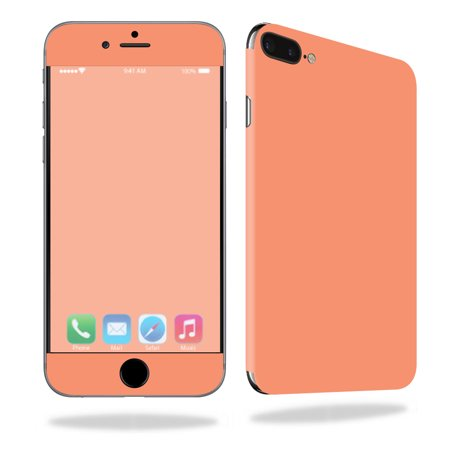 MightySkins Protective Vinyl Skin Decal for Apple iPhone 7 Plus wrap cover sticker skins Solid Peach](Plus Size Princess Peach)