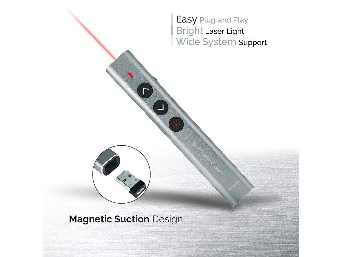 Aluminum 2.4G Rechargeable Wireless Bluetooth Presenter Laser Pointer